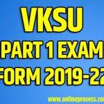 VKSU PG Exam Form 2019-21