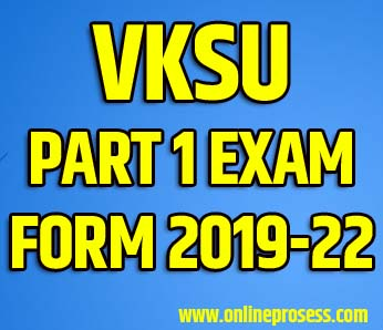 VKSU PG Exam Form 2019-21