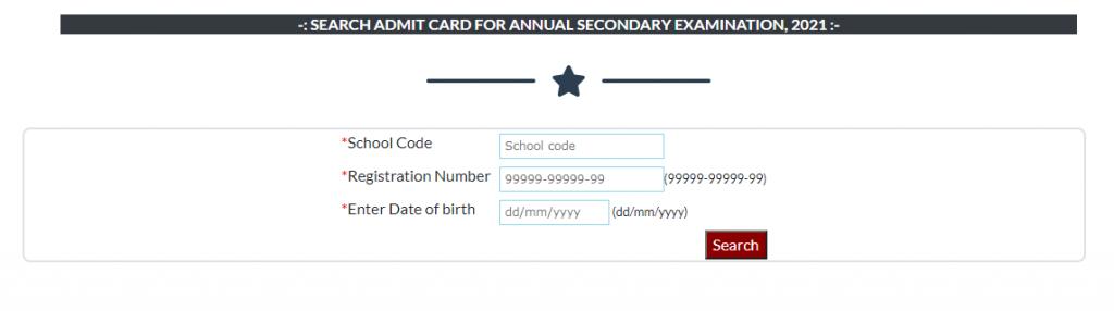 Matric Dummy Admit Card 2021 : Download Dummy Admit Card 2020-21
