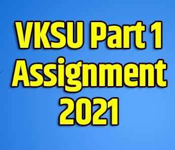 VKSU Part 1 Assignment 2021